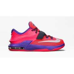 KIDS' KD7 'HYPER PUNCH' ($115) ❤ liked on Polyvore featuring shoes, kd and sneakers