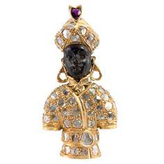 NARDI Diamond Blackamoor Brooch   1stdibs.com
