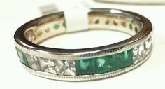 14k White Gold eternity band with 2.0ct Emerald And white Sapphire for only $699 call (925)274 1444