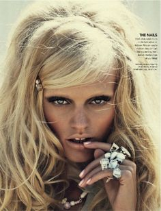 love the natural glam of 60s/70s