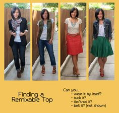 Finding a Remixable Top featuring member @Audrey Tom