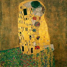 Gustav Klimt, The kiss.(1079×1080)