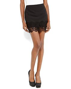 Look lovely in lace. #TheRomantics #Skirts #Miniskirts #Lace #Fancy