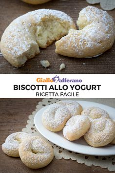 Biscotti allo yogurtYOGURT COOKIES are donuts perfect for breakfast. Easy Biscotti Recipe, Biscotti Cookies, Italian Cookie Recipes, Italian Cookies, Italian Pastries, Sweet Pastries, Italian Biscuits, Favorite Cookie Recipe, Crack Crackers