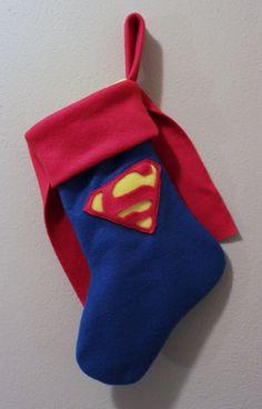 Superman Inspired Stocking by LucysRebellion on Etsy, $14.00