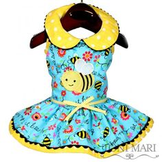 Bee Mine Dog Dress, Spring Dress for Dogs