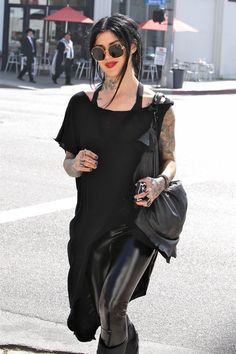 Kat Von D shopping in West Hollywood.