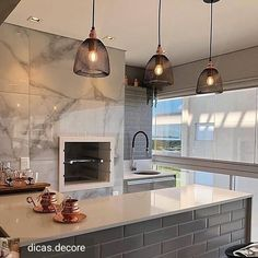 [New] The 10 Best Home Decor (with Pictures) - Aquela área gourmet. Interior Design Studio, Industrial Style, Cool Kitchens, Living Room Designs, Decoration, Kitchen Decor, Kitchen Dinning, Kitchen Island, Dining