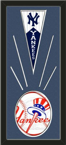 New York Yankees Wool Felt Mini Pennant & New York Yankees Team Logo Photo - Framed With Team Color Double Matting In A Quality Black Frame-Awesome & Beautiful-Must For A Championship Team Fan! Most NFL, MLB, NBA, Teams Available-Plz Mention In Gift Message If Need A different Team Art and More, Davenport, IA http://www.amazon.com/dp/B00I076B9Y/ref=cm_sw_r_pi_dp_OLtEub1Y3M5B5