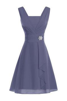 ModernBride Women Elegant Summer Chiffon Mother's Dresses 2015 Size 2 US Stormy