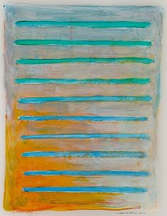 Brian Hollister, Notation CXVI (116) 2010, Oil on synthetic paper