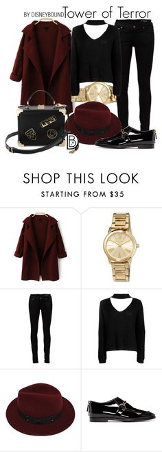 """""""Tower of Terror"""" by leslieakay ❤ liked on Polyvore featuring MICHAEL Michael Kors, Yves Saint Laurent, Boohoo, Sans Souci, STELLA McCARTNEY, disney, disneybound and disneycharacter"""