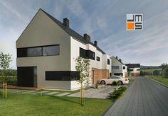 Projekt budynków mieszkalnych w zabudowie bliźniaczej w Wieliczce - JMS