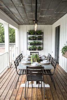 "Magnolia Homes Designs by Joanna Gaines of HGTV ""Fixer Upper"" & owner of Magnolia Market. Decor, House Design, Farm House Living Room, Magnolia Homes, Home, House Exterior, Patio Design, Porch Design, Outdoor Dining"
