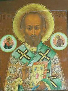 19th Century Russian Icon of St. Nicholas.