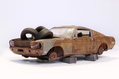 Revell '68 Ford Mustang, weathered, rust 1/25 | eBay