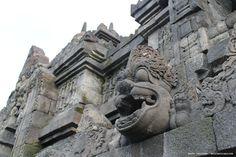 Barong statue on Borobudur Temple.