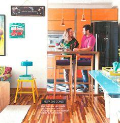 orange kitchen   colorful space #decor #colors #orange