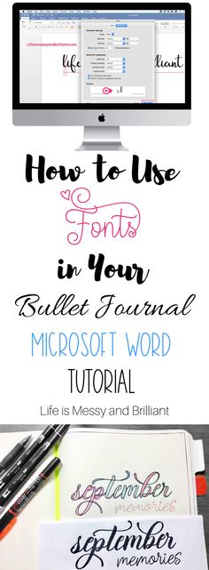 Easy Bullet Journal Ideas To Well Organize & Accelerate Your Ambitious Goals Bullet Journal Titles, How To Bullet Journal, Journal Fonts, Bullet Journal Printables, Journaling, Bullet Journals, Aesthetic Fonts, Journal Aesthetic, Microsoft Word