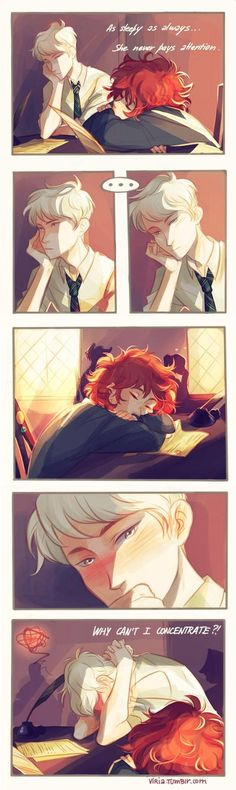 Rose and Scorpius, what seems like finally succumbing to what was already there.