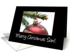 Merry Christmas Ornament card for Son card
