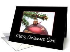 Merry Christmas Ornament card for Son card