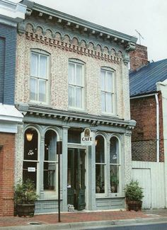 Building Windows, Building Front, Brick Building, Retail Facade, Shop Facade, Brick Store, Tiny Shop, Sidewalk Cafe, Shop Fronts