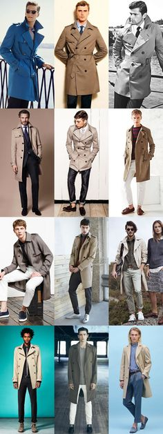 Men's Key Spring Jackets And How To Wear Them: The Trench Coat Lookbook Inspiration