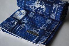 Star Wars Baby BlanketBlue & White by BedHogShop on Etsy, $35.00
