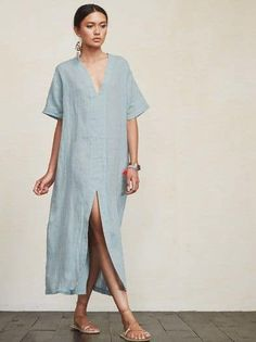 < summer minimalist > – Linen Dresses For Women Casual Summer Dresses, Trendy Dresses, Elegant Dresses, Nice Dresses, Short Dresses, Casual Outfits, Dress Summer, Summer Outfits, Beautiful Dresses