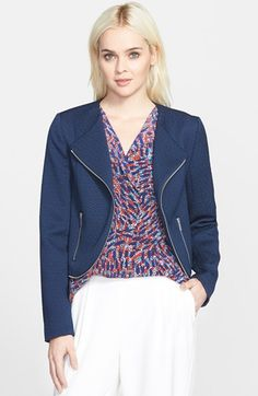 Trouve Trouvé Textured Moto Jacket available at #Nordstrom