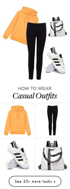 """""""Casual Dey ♥️"""" by devyn-chandler on Polyvore featuring Warehouse and adidas"""