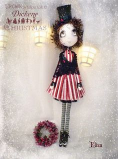Eliza Urchin Arty Doll by Vicki at Lilliput Loft