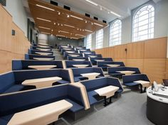Image 2 of 24 from gallery of When Architects Try Their Hand at Industrial Design. Burwell Deakins' Connect lecture theatre seating has been so successful it's now being commercially produced by Race Furniture Auditorium Design, Auditorium Seating, Flur Design, H Design, Logo Design, Graphic Design, Design Ideas, Les Gobelins, Lecture Theatre
