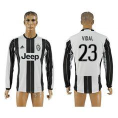 Juventus 16-17 #Vidal 23 Hjemmebanetrøje Lange ærmer,245,14KR,shirtshopservice@gmail.com