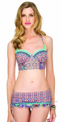 ee65e39f42c30  Gottex Blush 2015 Vintage  Beauty Bustier  Skirted Bikini Style   s TOP