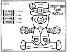 Change sight words to numbers!