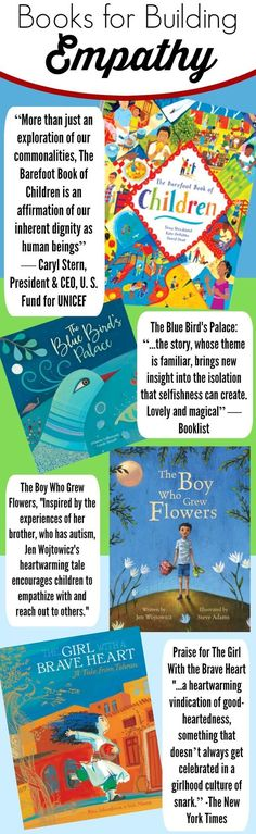 This collection of books is great for teaching kids empathy in a number of different ways and for different reasons. Barefoot Book of Children is a true must-have for every family! affiliate link