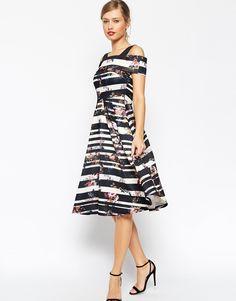 ASOS Stripe and Floral Debutante Dress