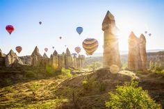 The 'fairy chimneys' are warming up in Cappadocia, Turkey