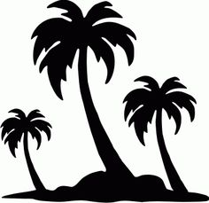 Palm Tree Silhouettes, Plants, VA3-117-21 - #1 source for Vinyl Decals