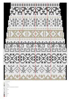 Knitting Charts, Knitting Stitches, Knitting Socks, Knitting Patterns, Tapestry Crochet, Knit Crochet, Fair Isle Chart, How To Purl Knit, Designer Socks