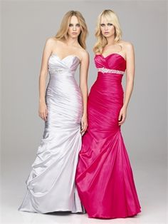 Empire Stweetheart Beaded Waistband Ruched Satin Prom Dress PD10640 www.dresseshouse.co.uk $116.0000