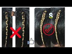 COMO COLOCAR CORRECTAMENTE TRENZAS sintéticas KANEKALON - YouTube Braids Hairstyles Pictures, Box Braids Hairstyles, Yarn Braids Styles, Braid Styles, Box Braids Tutorial, Havana Mambo Twist Crochet, Parting Hair, Lolita Hair, Afro Braids