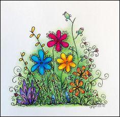 flowerdrawing by DIY Sara, via Flickr