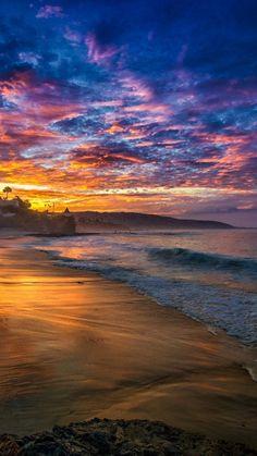Free Beach Sunset iPhone 6 Wallpaper 28812 - Beach iPhone 6 Wallpapers
