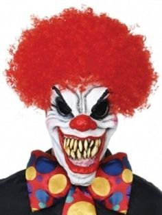 scary clown mask fashion and clothing