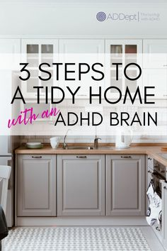 t can feel exhausting to even think about cleaning up. But it can also be exhausting to get your ADHD brain to live in a mess. This 3 step process will get your home from chaos to clean skipping over all the overwhelm, the avoidance and the guilt. #AdultADHD #ADHDtidy #ADHDcleaning