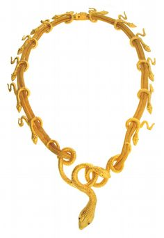 Gold snake necklace, Lalaounis; snakes may symbolise healing and eternity. (J S Fearnley/collectors.net)