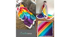 """Free """"Weighted"""" Crochet Afghan Pattern using Bernat Blanket yarn from From Crochet Afghans, C2c Crochet, Crochet Quilt, Crochet Borders, Crochet Crafts, Crochet Projects, Free Crochet, Crochet Ideas, Crochet Throws"""